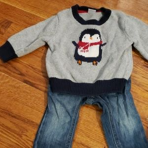 Penguin sweater with pants